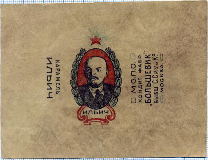 Дизайн упаковки советских конфет 1920-х годов