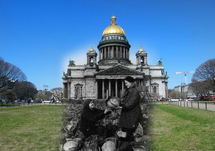 Блокадный Ленинград и современный Санкт-Петербург в проникновенном цикле фотоколлажей