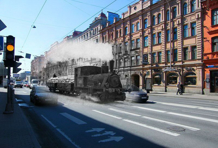 Ленинград периода Великой Отечественной войны и современный Санкт-Петербург