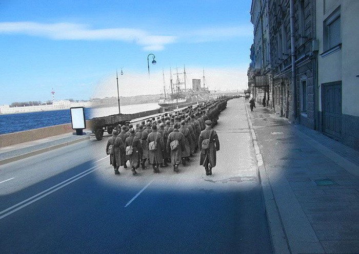 Блокадный Ленинград и современный Санкт-Петербург