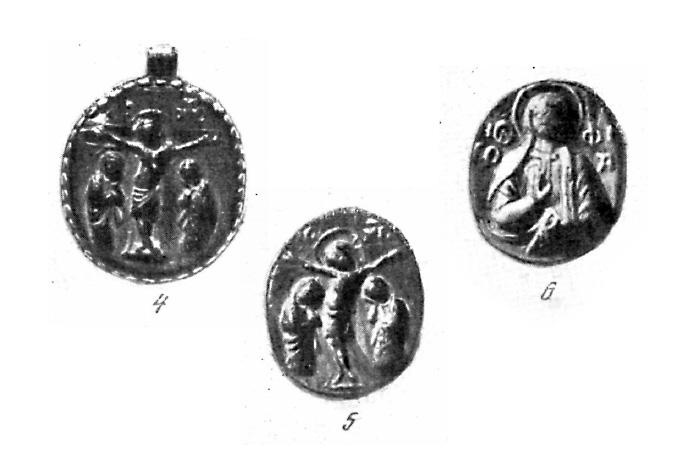 Рис. 4,5,6. Иконки-литики из Государственного Русского музея.