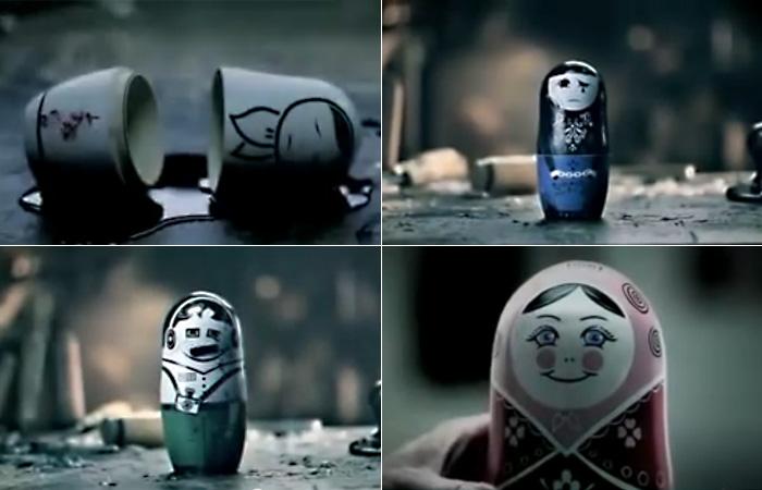 Скандальное видео: кровавые матрешки в французской социальной рекламе о России