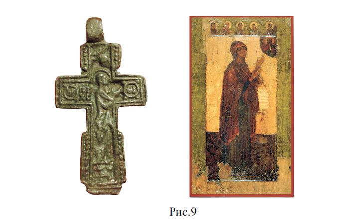 Кресты XV века с образом Богородицы / Иконка 'Богородица Боголюбская'