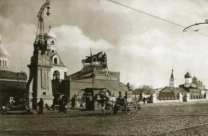 Тверская застава и путепровод.