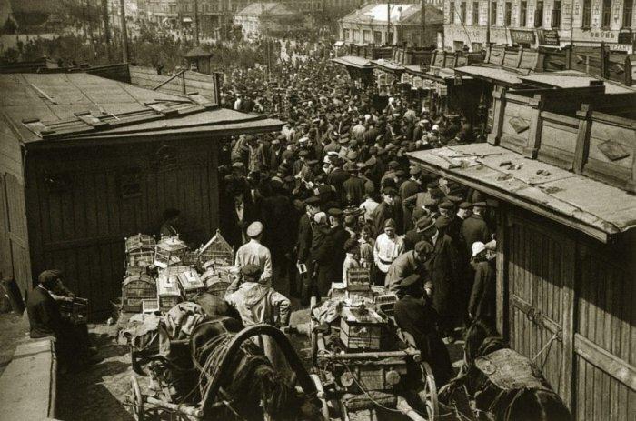 Рынок в Москве 20-х годов XX века.