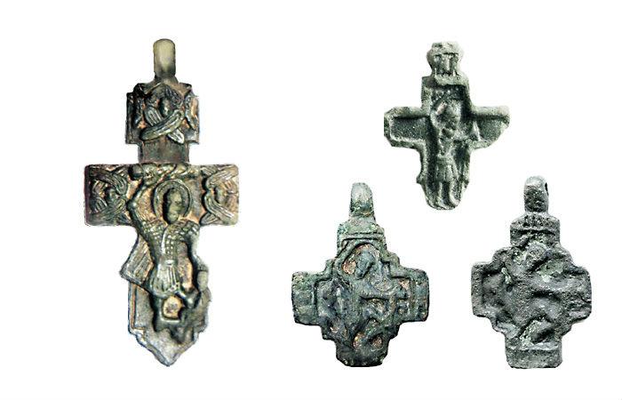 Кресты с изображением святого мученика Никиты-бесогона