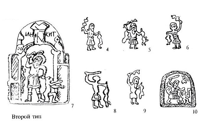 Типы изображений святого Никиты-бесогона: второй тип (рис. 4-10)