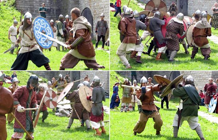 Военные состязания и массовые сражения староладожской крепости