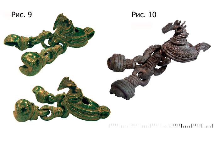 Шумящие орнитоморфные  финно-угорские подвески, XI-XII в.н.э.