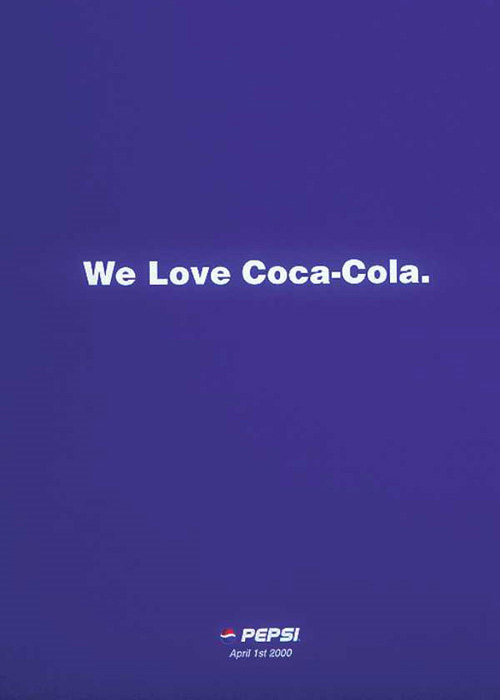 'Мы любим Кока-Колу!' - Pepsi от 1 апреля