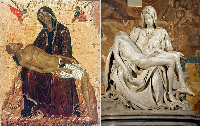 Не рыдай Мене Мати. / Пьета Микельанджело. 1499 г.