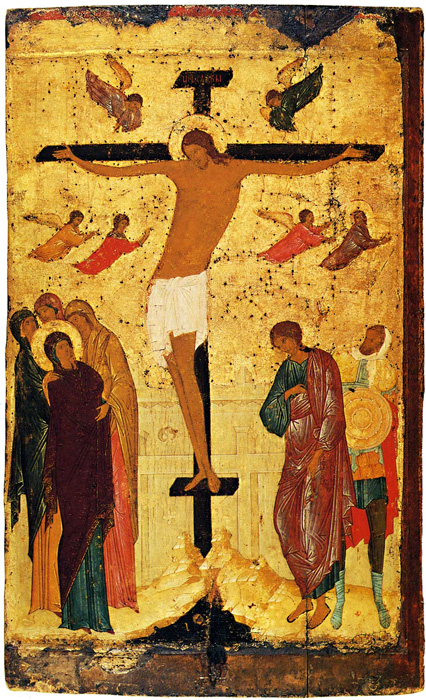 «Распятие», Дионисий, XV в. / Третьяковская галерея.