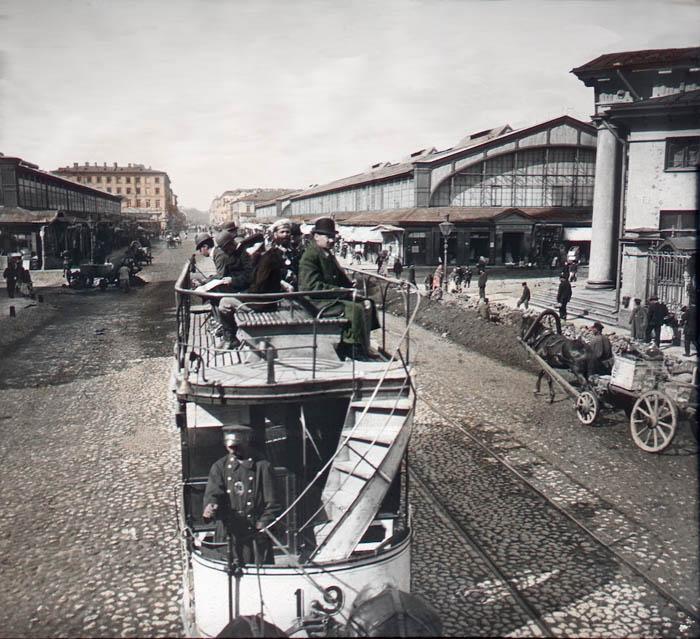 Сенная площадь. Санкт-Петербург, 1896 г.