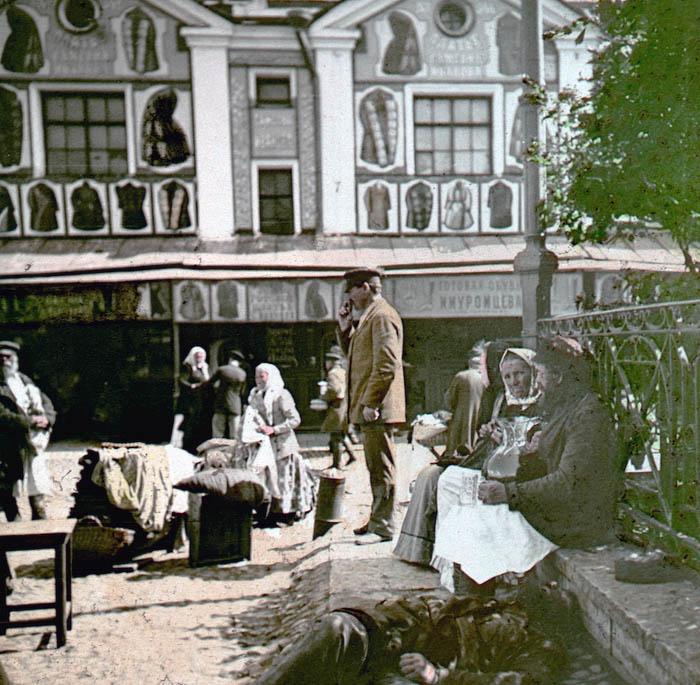 На рынке. Санкт-Петербург, 1896 г.