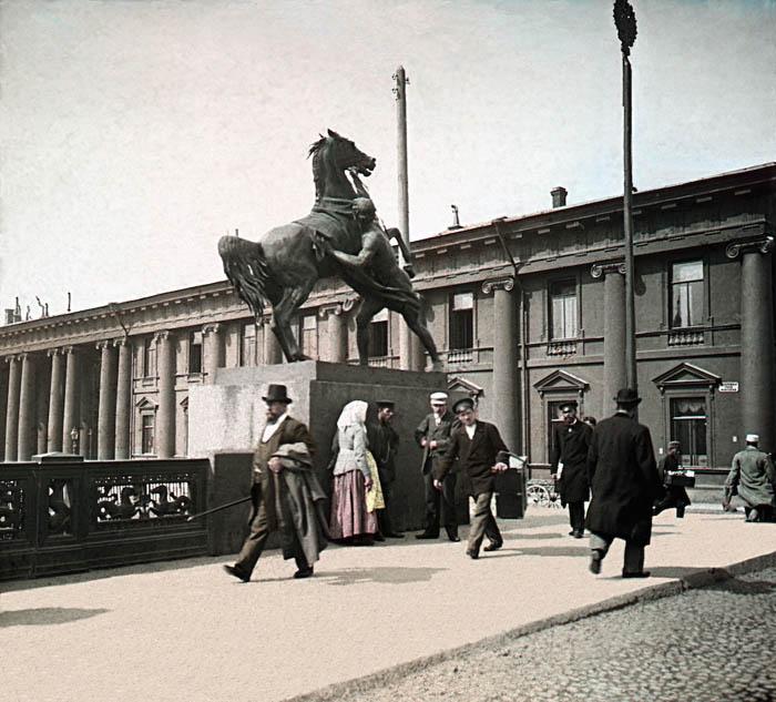 Аничков мост. Санкт-Петербург, 1896 г.