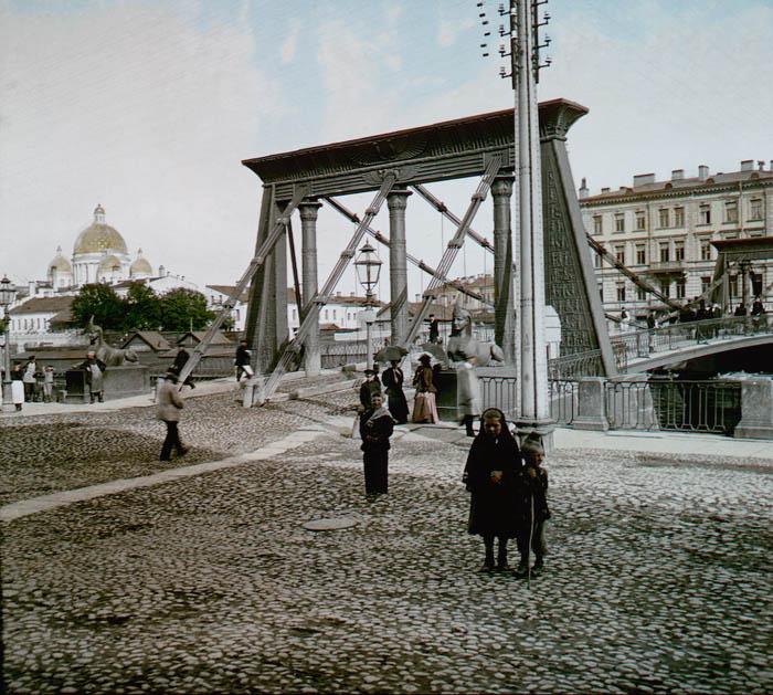 Египетский мост. Санкт-Петербург, 1896 г.