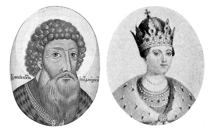 Князь Иван Васильевич III. / Софья Палеолог.