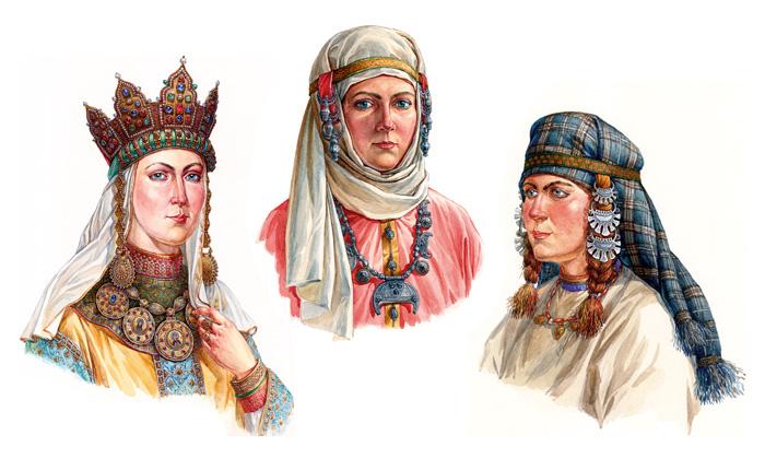 Древнерусский женский ювелирный головной убор XI - XIII вв.