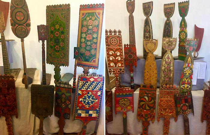 Русские прялки.