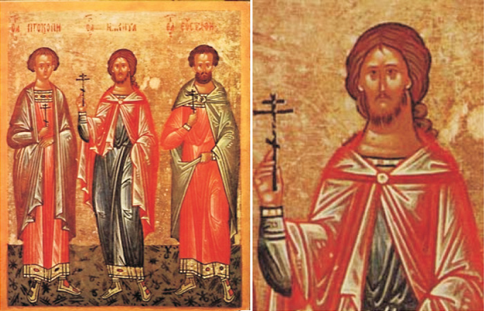 Образ великомученика Никиты Готского на иконе конца XV века.