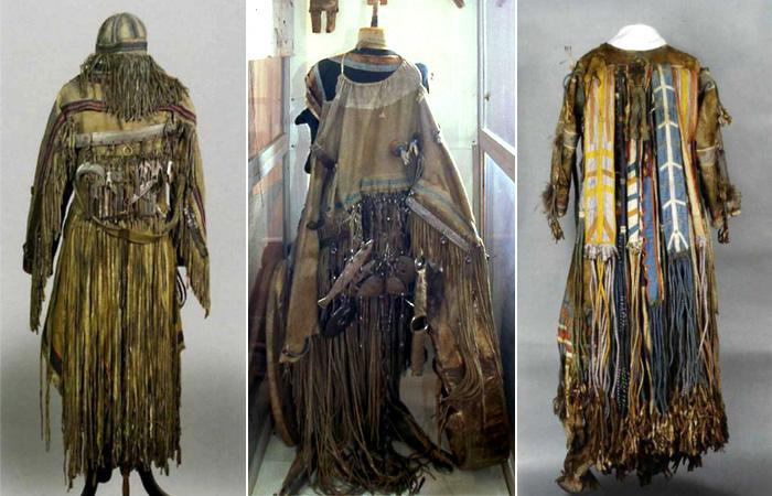 Музейные реконструкции шаманских нарядов.