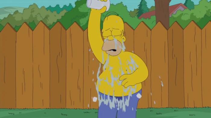 Гомер Симпсон облился ледяной водой в новой серии мультфильма