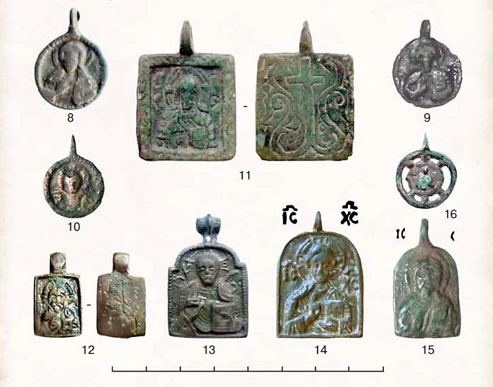 (Табл. I.II.) Иконки-привески с изображением Господа Вседержителя.(8–15)
