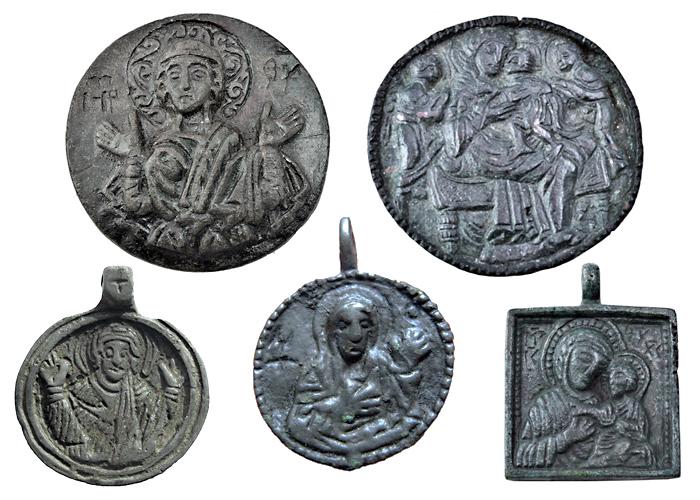 Русские иконки-привески XI–XVI вв. с изображением Богоматери
