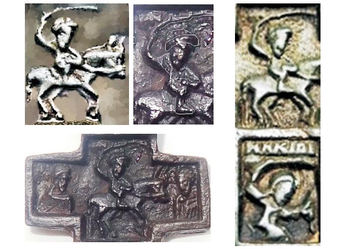 Изображения на кресте .XVI века.