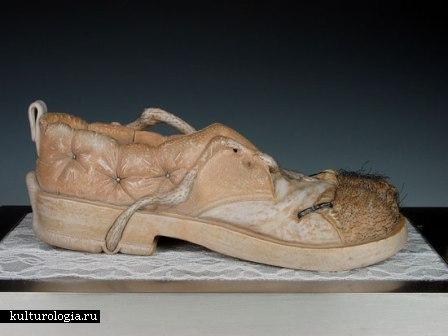 Необычная скульптура из керамики