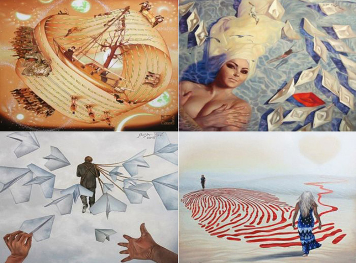 Сюрреалистичные картины с яркой атмосферой от Лизы Рэй.