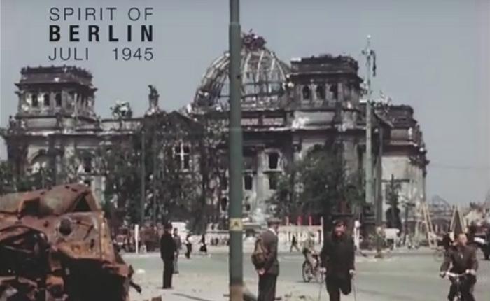 Цветная документальная съемка Берлина, сделанная в июле 1945 года.