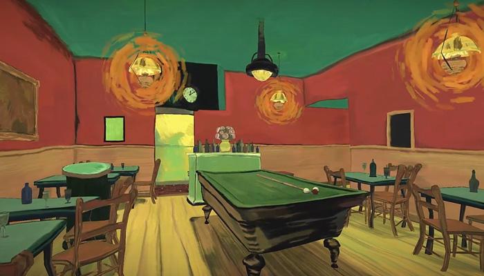 Путешествие по картине Ван Гога «Ночное кафе».