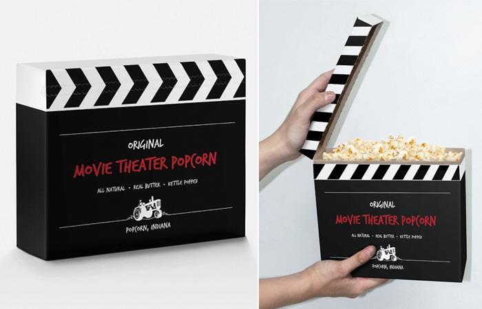 Упаковка для попкорна «кино-хлопушка» от Frank Anselmo