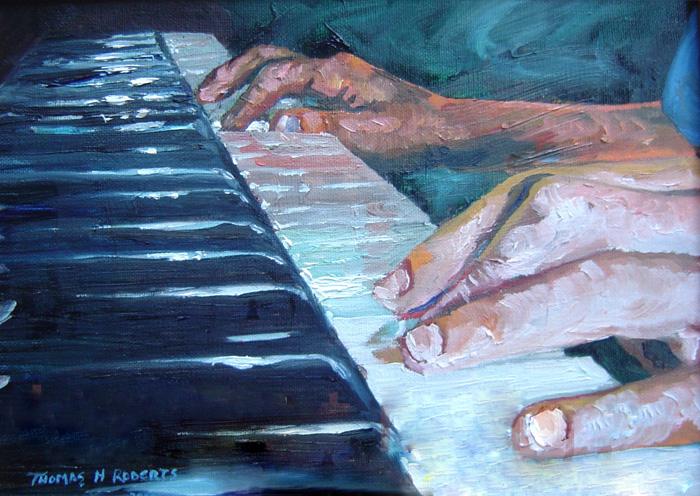 Игра на фортепиано. Художник Том Робертс.