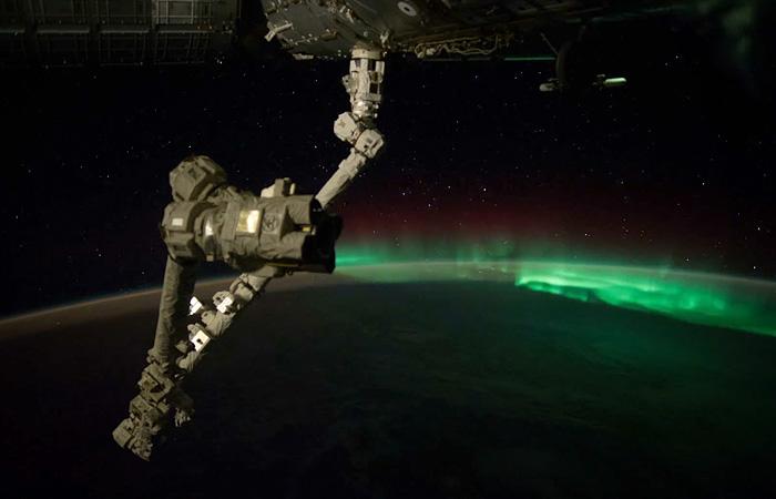 Северное сияние из космоса. Съемки NASA.