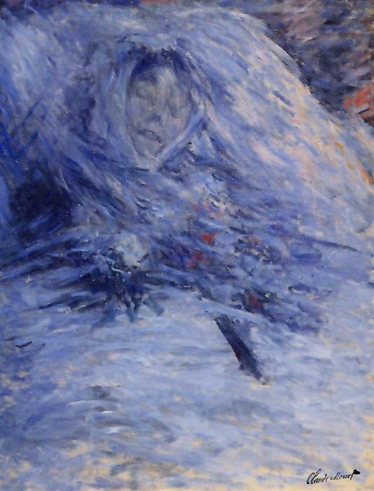 Посмертный портрет Камиль Домкьюз. Клод Моне.