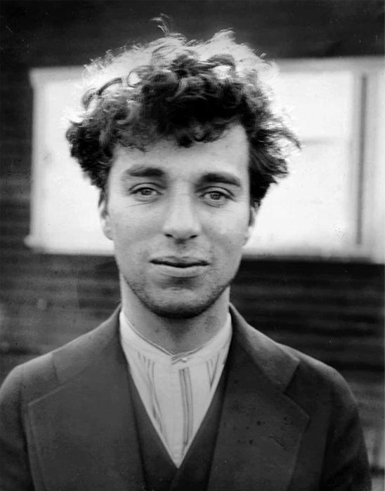 Чарли Чаплин, 1916 год. Оригинальная ч/б фотография.