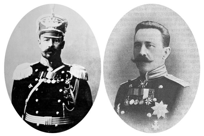 Генералы Михаил Бонч-Бруевич и Владислав Клембовский