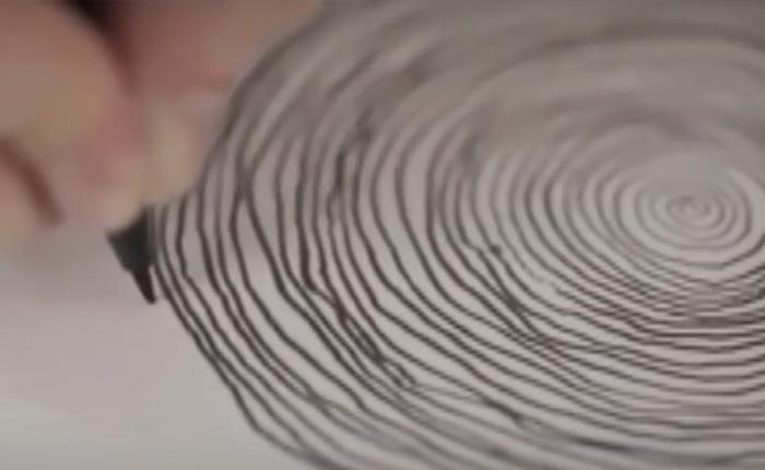 Необычная техника исполнения рисунка, которая интригует и завораживает.