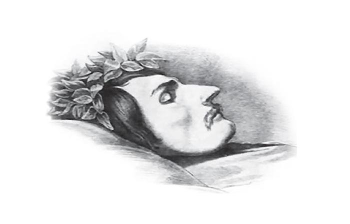 «Гоголь на смертном одре», рисунок Э. А. Дмитриева-Мамонова