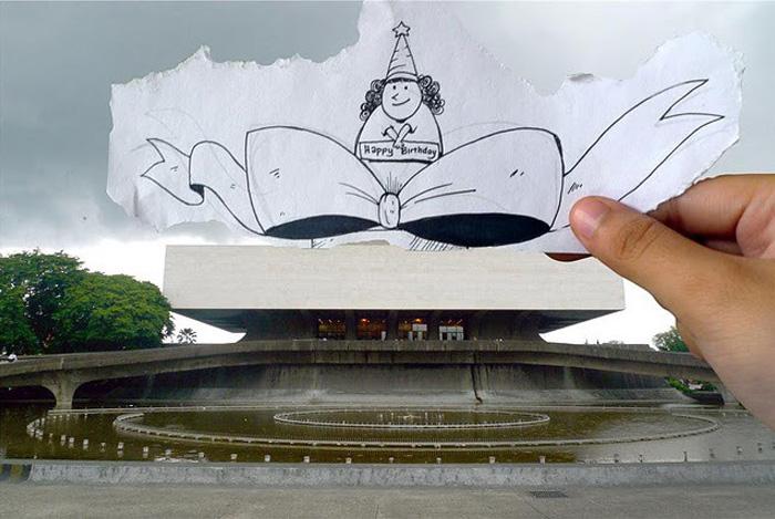 С днем рождения. Карикатурный проект филиппинских художников.