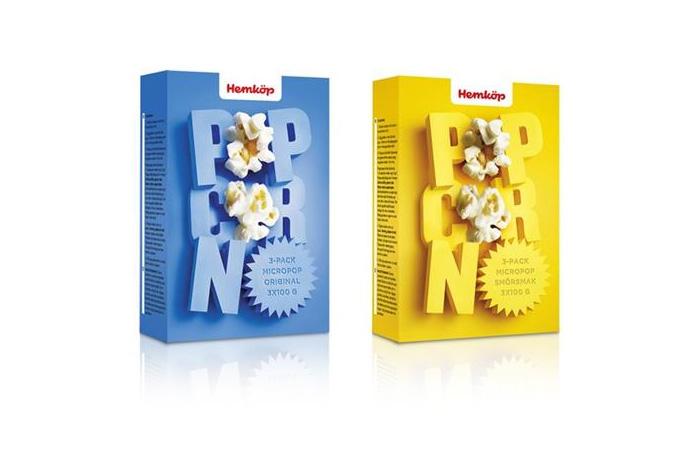 Коробка попкорна Hemkop Popcorn