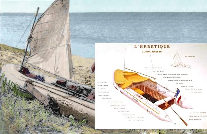 Резиновая лодка «Еретик» - на ней Ален Бомбар отправился покорять стихию