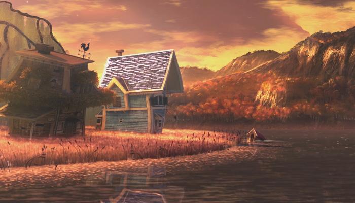 Мультфильм о том, как один дом отправился в путешествие.