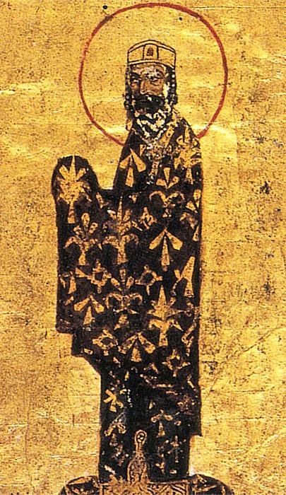 Император Византии Алексей Комнин. Портрет из греческого манускрипта