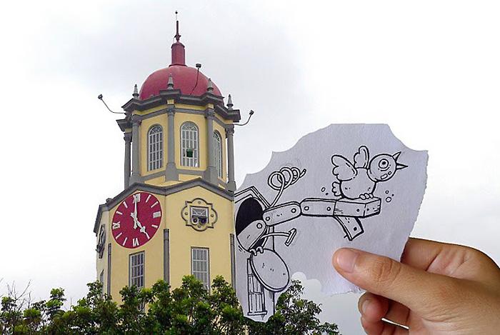 Часы с кукушкой на здании муниципалитета в Маниле .