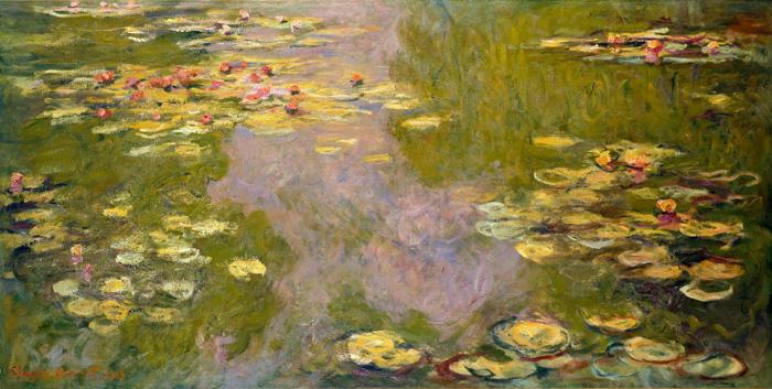 Моне клод пруд с водяными лилиями