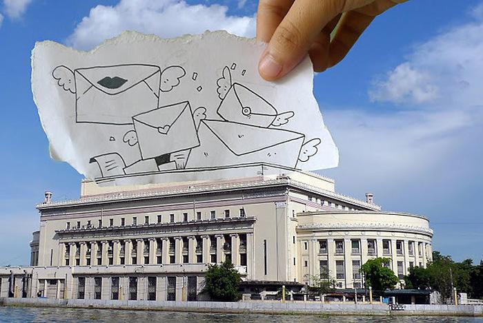 Письма о любви заполонили здание Почтамта.
