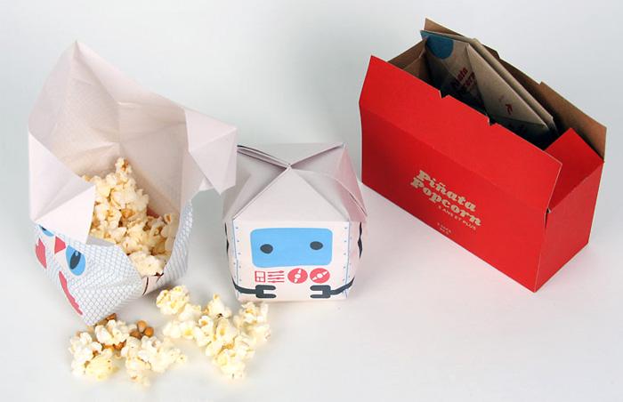 Оригами-упаковка для попкорна от Nicolas Menard